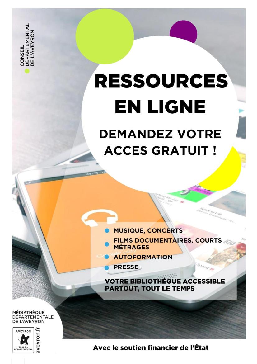 Les usagers et usagères de la bibliothèque de Najac peuvent profiter des ressources en ligne