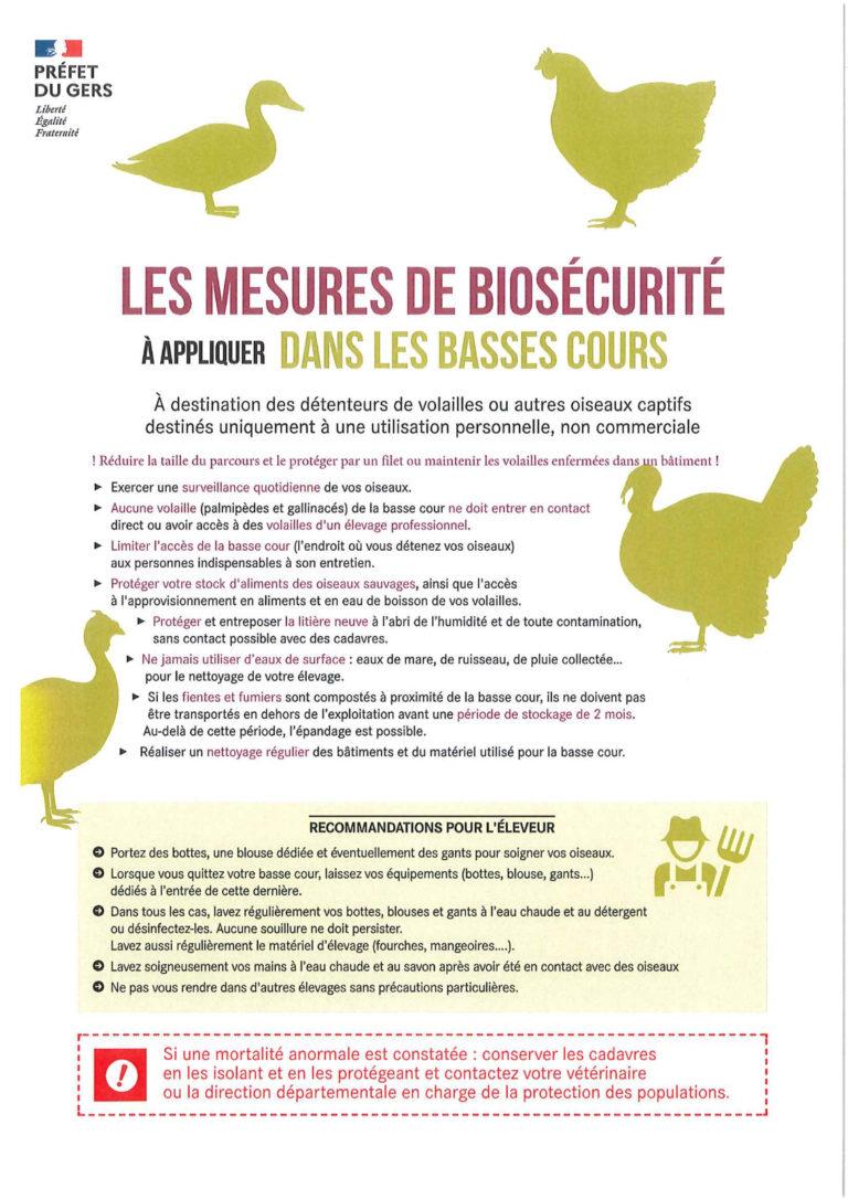 Les mesures de Biosécurité à appliquer pour la basse-cour