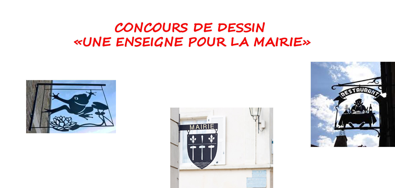 Concours de dessin «Une enseigne pour la Mairie».