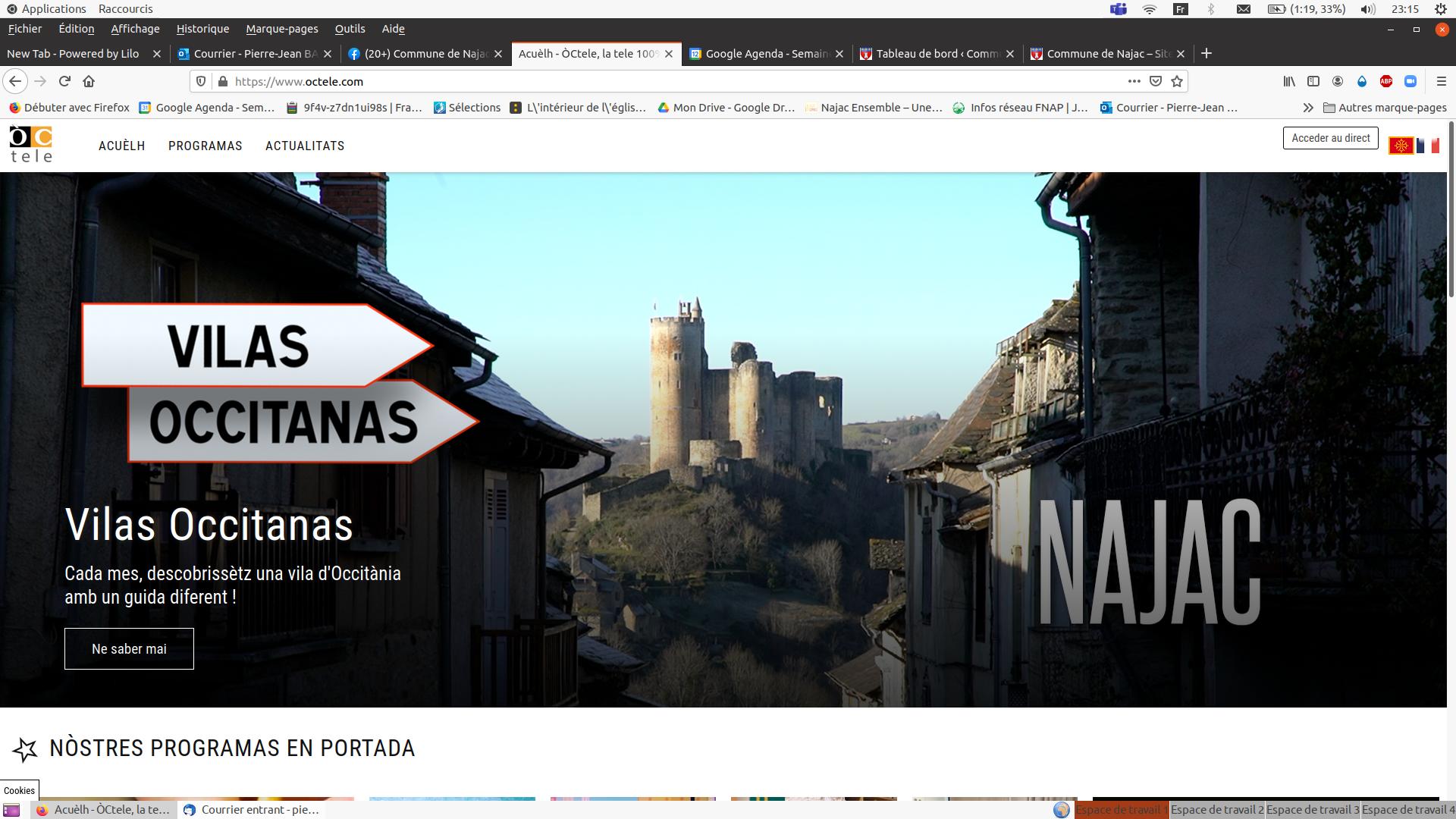 «Vilas Occitanas» d'Oc Télé,   consacré à Najac